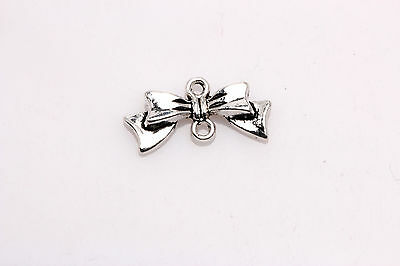 Free shipping 10Pcs Tibetan Silver Charm bowknot finding Connectors 20*10mm ZA97