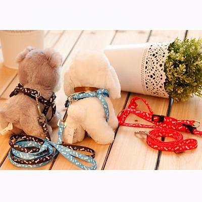 Adjustable Puppy Dog Nylon Harness With Lead Leash Pet Traction Rope
