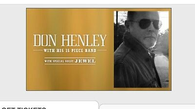 Don Henley Concert ticket Melbourne 8th March