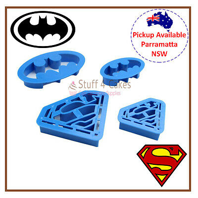 Superhero Batman Superman Cookie Fondant Cutter Cake Decorating Supplies Dc