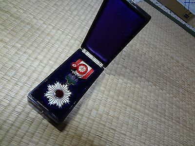 WWII Japanese SILVER JAPANESE 4th ORDER THE RISING SUN medal badge army navy AA1