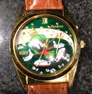 Armitron Looney Tunes Marvin The Martian Musical Watch - Works Great