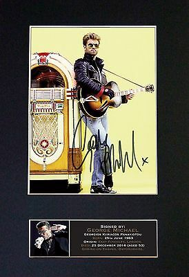 GEORGE MICHAEL MEMORABILIA - Collectors Signed Photo + FREE WORLDWIDE SHIPPING