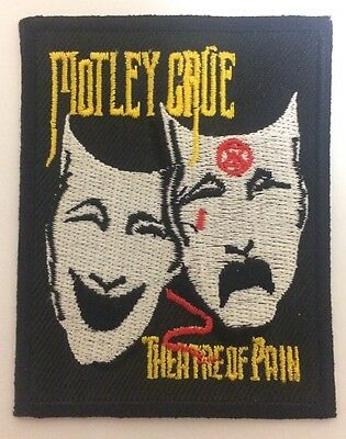 Motley Crüe Theatre Of Pain Iron On Patch