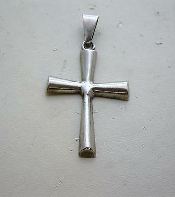 Vintage Mexico Sterling Silver Cross Pendant