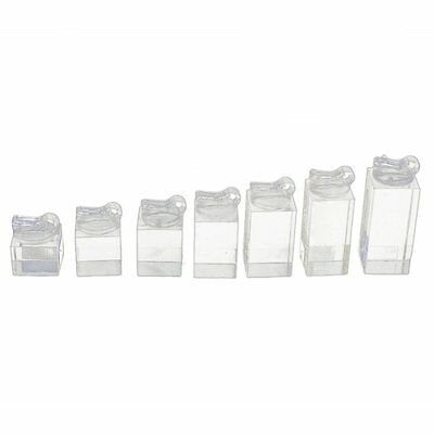 Set of 7 clip ring acrylic display stand jewelry holder Riser D4R6