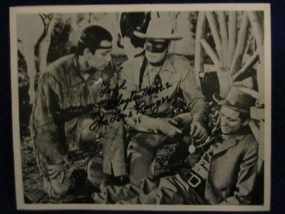 "Autograph Picture ""THE LONE RANGER AND TONTO"""