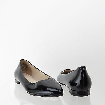 Women's Rockport Classic Shoes Black Patent Leather Ballet Flats Size 6 W
