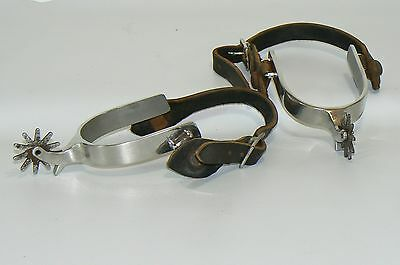 Vintage Sliester Chrome Plated Western Cowboy Spurs