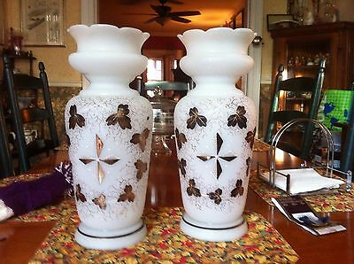 Pair Large Antique Victorian  Vases