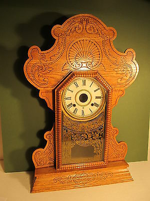Vintage Gnigerbread clock case with glass door (ref 621)