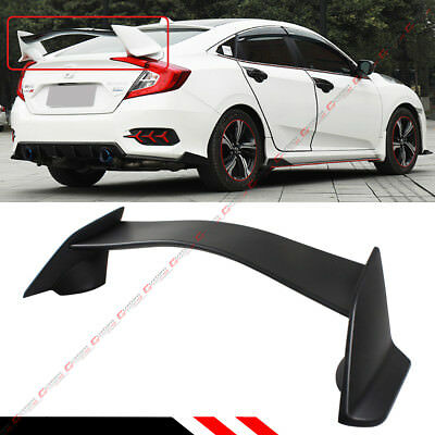 For 2016-17 10Th Gen Honda Civic Sedan Jdm Ctr T-R 3Pc Style Trunk Spoiler Wing
