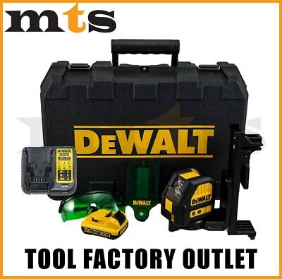 Dewalt 10.8V / 12V Green Beam Cross Line Laser Level Kit - Dw088 Lg / Dce088D1