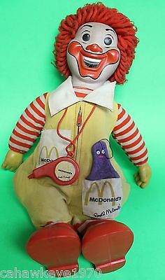 """VINTAGE RONALD McDONALDS 20"""" DOLL BLOWS WHISTLE W/GRIMACE DATED 1979"""