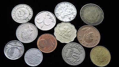 Twelve Assorted Small Foreign Coins Lot C33