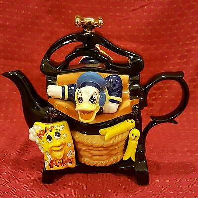 Large Donald Duck MANGLE Teapot LE 1997 Cardew Disney Character Collectibles