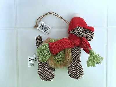 Nordstrom Exclusive Hand Knited Wool Dog Christmas Ornament
