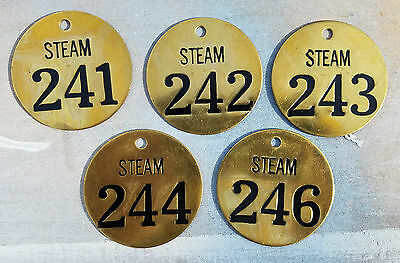 Vintage solid brass Nameplate Tag Industrial FOB Steampunk lot of 5