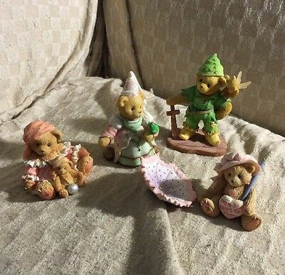 Collection Of (4) Cherished Teddies Collectible Figurines/MUST SEE TAKE A LOOK/