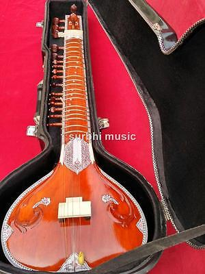 Sitar Miraj  Sitar Ravi Shanker Style With Fiber Box & Complimentary Sitar Book