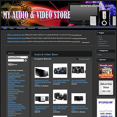 Established Electronic Store Affiliate Business Website For Sale! Free Domain!