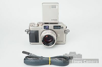 Contax G1 35mm Rangefinder Film Camera w/ Zeiss Planar 45mm f/2 & TLA140 Flash