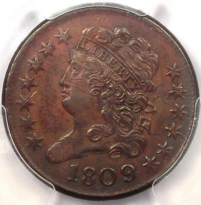 1809/6 Classic Head Half Cent - PCGS XF Details - Rare Overdate Certified Coin