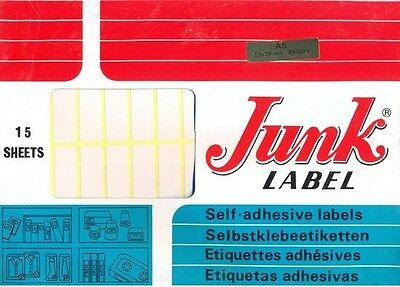 Small White Sticky labels 13X38mm Stickers Price Blank Tags Self Adhesive 840pcs