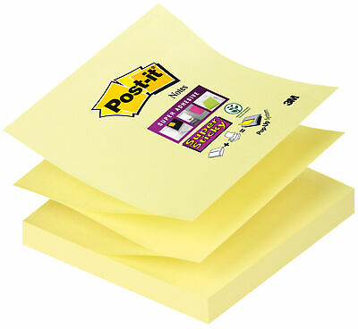 Haftnotiz Super Sticky Z-Notes, 76 x 76 mm, gelb, 90 Blatt (3M; R33012SY)