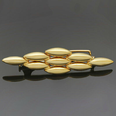 Authentic 1980s CARTIER Gentiane 18k Yellow Gold Brooch