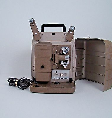 Vintage BELL & HOWELL 254 RS 8mm Movie Film Projector Tested Motor and Lamp Work