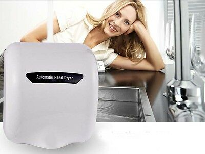 White Wall Mounted Infrared Automatic Induction Quick Drying Hand Dryer Machine