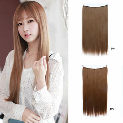 Hidden Halo Invisible Wire Hairpiece Secret Miracle Straight Hair Extensions