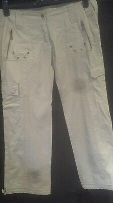 fawn ladies cotton summer  combat style trousers size 14