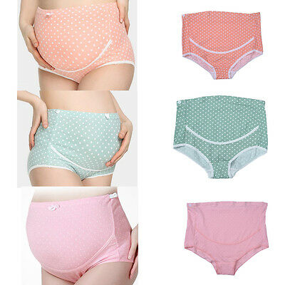 Pregnant Women Maternity Panties Cotton Lace Underwear Clothes Support Tummy New