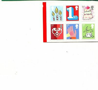 Great Britain:2015:12 x 1st Class Smilers Cylinder Booklet QB1 CYLINDER BOOKLET