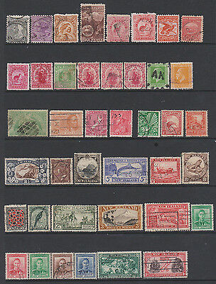 New Zealand -  from earlies - collection of 78 mint & used stamps on 2 pages