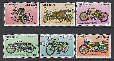 Vietnam 1985 SG828-833 - Centenary of Motor Cycles - 6 used