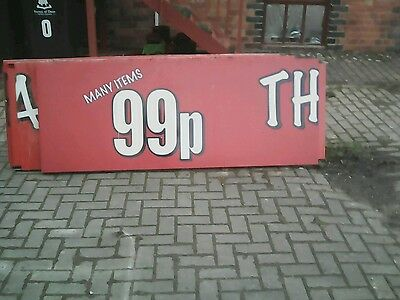 large shop sign 223in x28 1/2 in