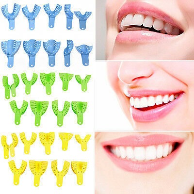 10pcs/set Oral Plastic Impression Tray Dental Mouth Autoclavable Retention