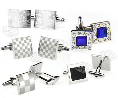 MEN'S Silver Cufflinks Stainless Steel Role Wedding Party Cuff Links Gifts