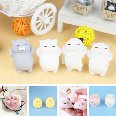 1Pc Mini Animal Squeeze Stretch Compress Plush Decompression Toy Kawaii Gifts