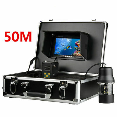 "7"" TFT Monitor 50M Cable 360 degree Underwater Fishing Camera Fish Finder"