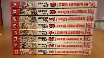 The Gentlemen's Alliance Manga Volumes 1-5, 7-9 (8 volumes)