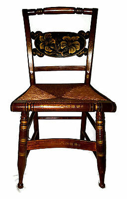 * RARE 19th Century Hitchcock Era Chair, Signed by Maker [3 available