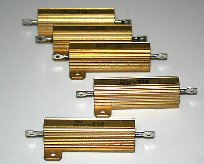 5 x high power resistors  Dale 50 Watt 1% Widerstand Sortiment