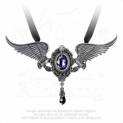 My Soul from the Shadow, Alchemy Gothic, Fine English Pewter Necklace