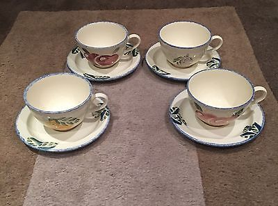 Poole Pottery Dorset Fruit Breakfast Cups & Saucers