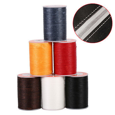 160M 0.45mm Polyester Round Wire Waxed Thread DIY Leather Craft Sewing Stitching