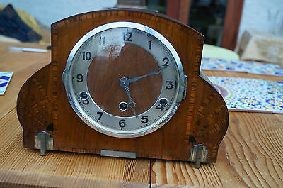 German Art Deco clock with Westminster chime.SEE VIDEO